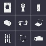 Ícones da eletrônica Imagens de Stock
