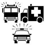 Ícones da emergência ilustração royalty free