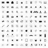 100 ícones da empresa Fotos de Stock