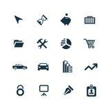 Ícones da empresa ajustados ilustração stock