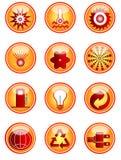 Ícones da energia fotografia de stock