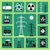 Ícones da energia ilustração royalty free