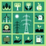 Ícones da energia Imagem de Stock