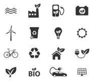 Ícones da energia alternativa simplesmente Imagens de Stock Royalty Free