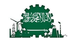 Ícones da energia e do poder ajustados com bandeira Imagem de Stock Royalty Free