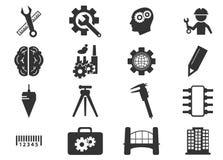 Ícones da engenharia ajustados Imagens de Stock Royalty Free