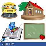 Ícones da escola Imagens de Stock