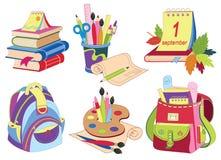 Ícones da escola Imagem de Stock