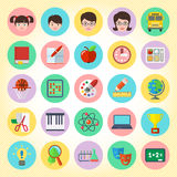Ícones da escola ajustados Fotos de Stock