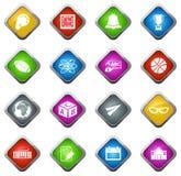 ícones da escola ajustados Imagem de Stock