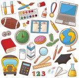 Ícones da escola & da educação Fotografia de Stock