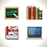 Ícones da escola do vetor. Parte 2 Imagens de Stock