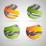 ícones da esfera Imagens de Stock