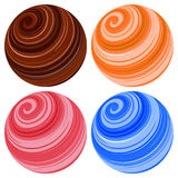 Ícones da esfera do planeta. Ilustração do vetor Imagem de Stock Royalty Free