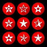 Ícones da estrela ajustados Fotos de Stock