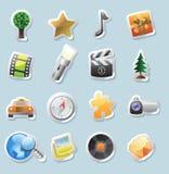 Ícones da etiqueta para o entretenimento ilustração do vetor