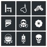 Ícones da execução Ilustração do vetor Imagens de Stock Royalty Free