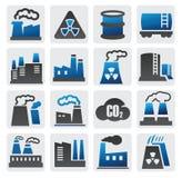Ícones da fábrica Imagem de Stock