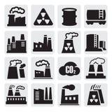 Ícones da fábrica ajustados Foto de Stock