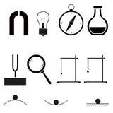 Ícones da física ilustração stock