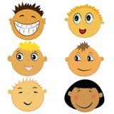 Ícones da face das crianças ilustração stock