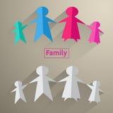 Ícones da família Imagem de Stock Royalty Free