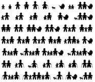 Ícones da família ajustados Fotos de Stock