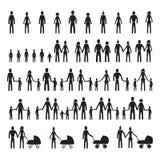 Ícones da família ajustados Fotografia de Stock