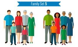 Ícones da família ajustados Cultura tradicional, família nacional Vetor Fotos de Stock