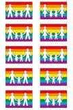 Ícones da família de LGBT ilustração do vetor