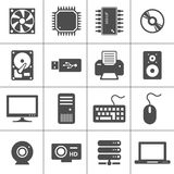 Ícones da ferragem de computador Fotografia de Stock Royalty Free