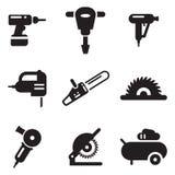 Ícones da ferramenta elétrica Imagem de Stock