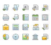 Ícones da finança Imagens de Stock