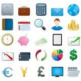 Ícones da finança Fotografia de Stock
