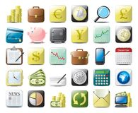 Ícones da finança Fotografia de Stock Royalty Free