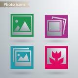 Ícones da foto Imagem de Stock Royalty Free
