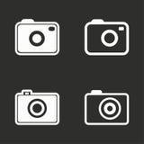 Ícones da foto ajustados Foto de Stock