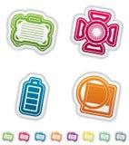Ícones da fotografia ajustados Foto de Stock