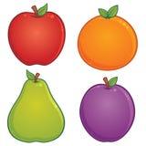 Ícones da fruta ilustração royalty free