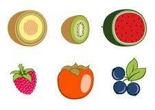 Ícones da fruta Fotos de Stock