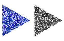 Ícones da função do jogo do mosaico do movimento do cargo ilustração royalty free