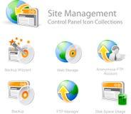 Ícones da gerência do Web site Fotos de Stock Royalty Free