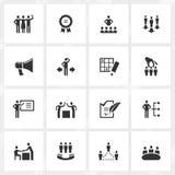 Ícones da gestão ilustração do vetor