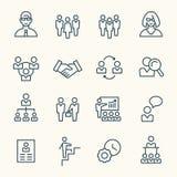Ícones da gestão ilustração royalty free