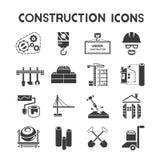 Ícones da gestão da construção ilustração stock