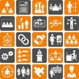 Ícones da gestão de recursos de Huma Fotografia de Stock Royalty Free