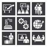 Ícones da gestão empresarial Imagem de Stock Royalty Free