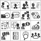 Ícones da gestão empresarial Foto de Stock Royalty Free