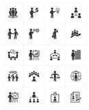 Ícones da gestão empresarial Fotografia de Stock Royalty Free