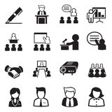 Ícones da gestão empresarial Imagens de Stock